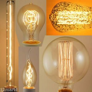 ampoule d corative filament vis e27 d coration vintage design industriel neuf ebay. Black Bedroom Furniture Sets. Home Design Ideas