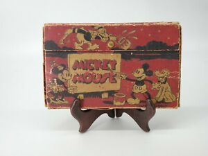 Vintage 1934 Dixon MICKEY MOUSE DONALD DUCK & MINNIE Pencil Box 2917 Disney Rare