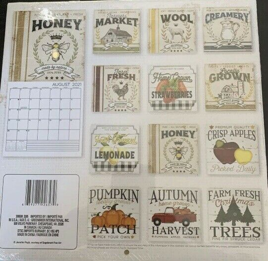 Lot Of 2 BE BRAVE 2021 12 Month calendar And FARMERS ...