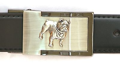 British Bulldog Belt Buckle And Leather Belt In Gift Tin Ideal Dog Lover 047