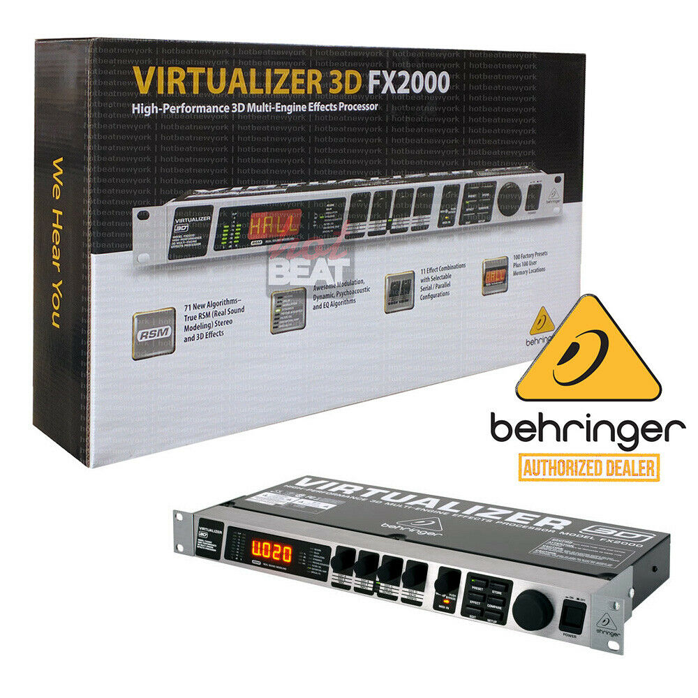 Behringer Virtualizer 3D FX2000 High-Performance Multi-Engine Effects Processor