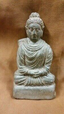 Ancient Gandhara Gandharan Stone Beautiful Sitting Buddha C 200 Ad Gg639 Ebay