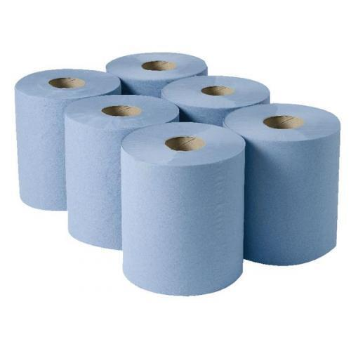 80m 2Ply Centrefeed Blue Rolls Industrial Blue Roll Various Size Absorbent Paper