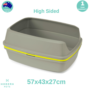 Scoopfree Cat Kitty Litter Box Tray Sifting Toilet Box High Sided Grey Jumbo Ebay