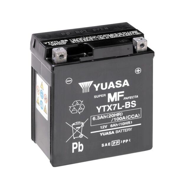 Bateria Yuasa YTX7L-BS 12 6Ah 100A 114x71x131mm Combipack (con electrolito)