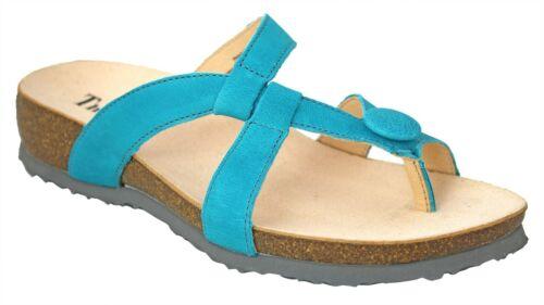 THINK 84947-93 Damen Zehensteg Sandale JULIA blau L05