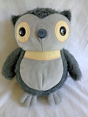 """Plush Gray OWL Aesops Fables 9.5"""" Kohl's Cares 2012 Stuffed Animal Toy"""