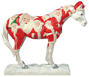 Trail-of-Painted-Ponies-BIG-RED-PONY-FIGURINE-1st-Edition-Santa-Retired-NIB