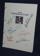 Movie Script - Cast Signed - Terminator  Schwarzenegger