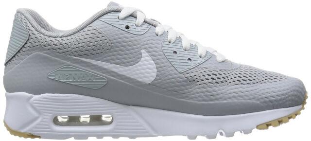 Nike Herren Air Max 90 Ultra Essential grau weiß Turnschuhe 819475 005