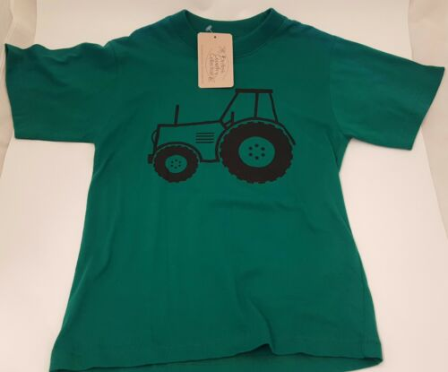 British Country Collection Green Tractor T-Shirt Sizes 6 months to 8 Years