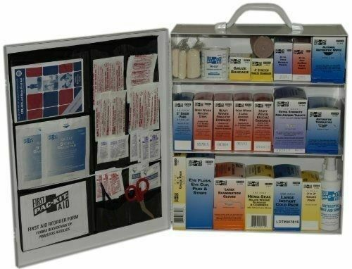 Pac-kit Industrial Station First Aid Kit 440 Items Metal Case PKT6155