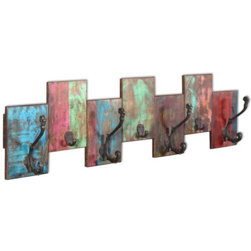 vidaXL Solid Reclaimed Wood Wall Mount Coat Rack Clothes Robe Hook Rack Hanger