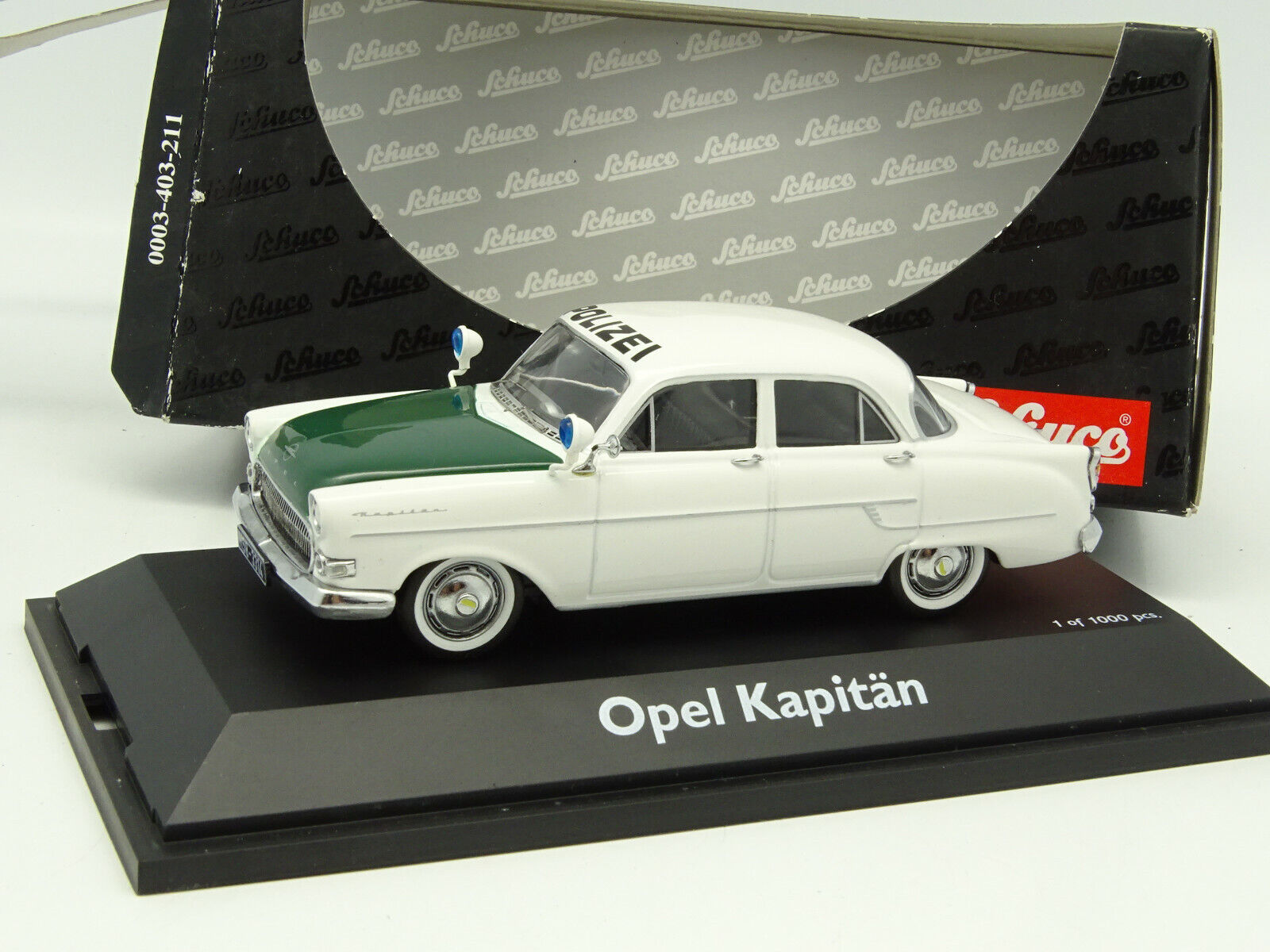 Schuco 1 43 - Opel Kapitan Polizei