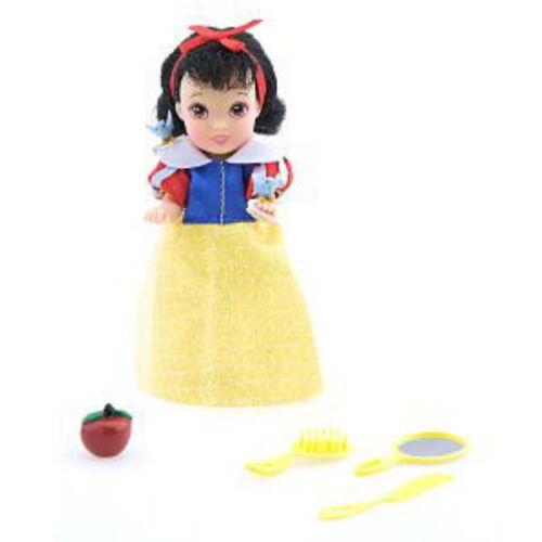 "Disney Snow White Mini 5/"" Doll Mirror Comb Brush Apple Birds NEW FREE SHIPPING"