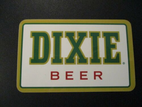 DIXIE BEER Louisiana New Orleans voodoo rectngl STICKER decal craft beer brewing