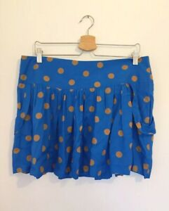 Therapy-skirt-UK-14-Blue-Spotty-Polka-Dot-Short-House-of-Fraser-NEW-WITH-TAGS