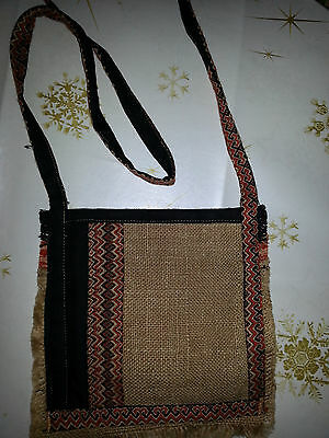 Umhängebeutel Tasche Beutel Patchworkbeutel Handarbeit Patchwork Batik Baumwolle