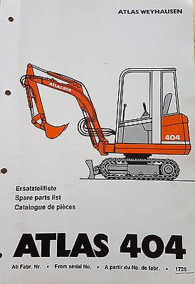 Hilfreich Atlas 404 Minibagger Ersatzteilliste Freigabepreis