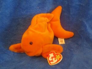 b747b2c98ad Image is loading Ty-Beanie-Baby-Goldie-the-Goldfish-4th-Generation-