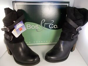 Bos-amp-Co-Borne-Black-Leather-Waterproof-Boots-Women-039-s-Size-9-US-New-In-Box