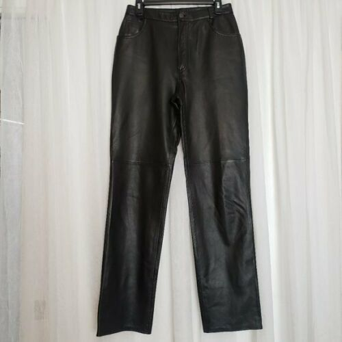 Michael Hoban Black Leather Pants Size:10  North B