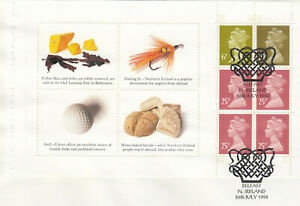 (54869) GB Used Northern Ireland FULL Booklet Pane 1994 ON PIECE
