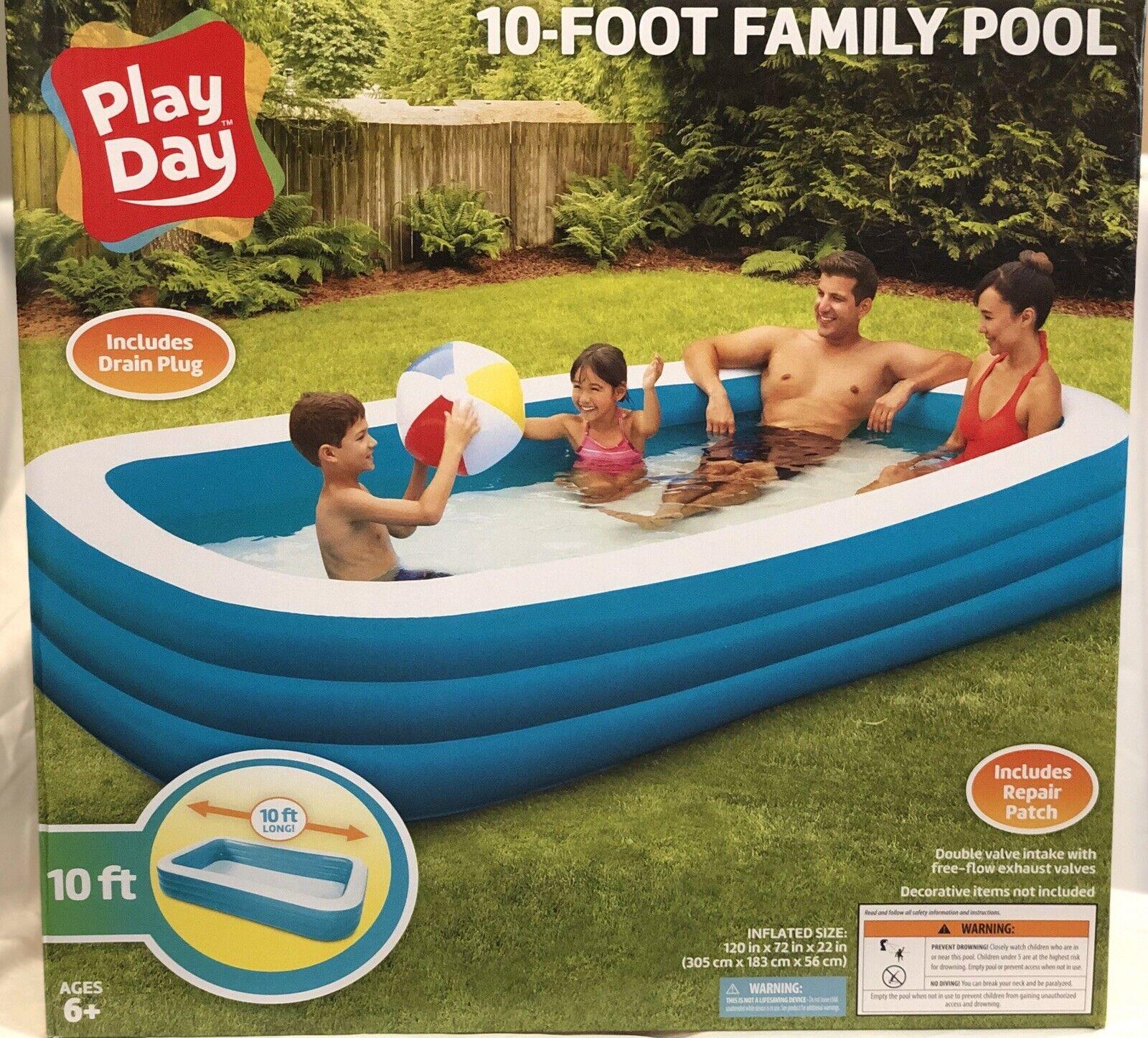 "79 x 59 x 20/"" Rectangular Kiddie Pool Deluxe Inflatable Backyard Kiddie Splash Pool for Ages 3+ Inflatable Family Pool"