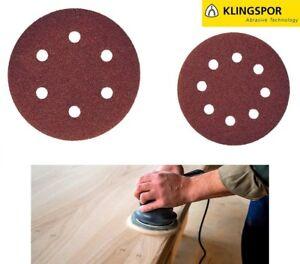 50x-125-amp-150mm-Sanding-Discs-Sandpaper-KLINGSPOR-Hook-amp-Loop-Wood-amp-Paint