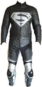 SUPERMAN-STYLE-NOIR-ET-ARGENT-HOMMES-MOTO-CUIR-MOTO-VESTE-amp-COSTUME