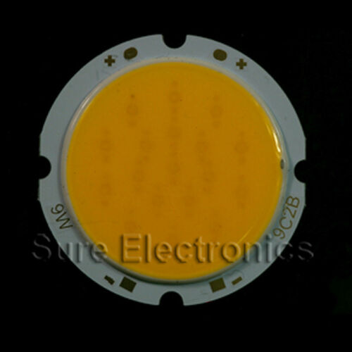 5pcs 9w 300mA 30V 600-620 LM Warm White Round COB SMD LED Light Lamp 18pcs Clips
