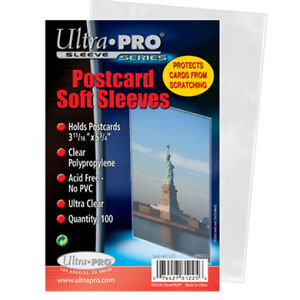 1200-SOFT-POSTCARD-SLEEVES-ACID-FREE-ULTRA-PRO-81225