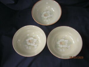 DENBY-DAYBREAK-3-X-SOUP-CEREAL-BOWLS-16-CM-VERY-GOOD-CONDITION