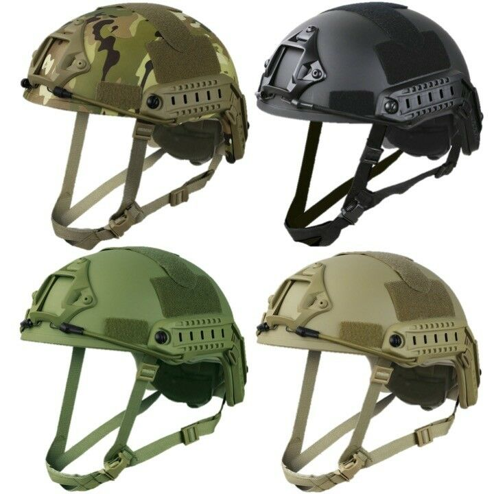 TACTICAL AIRSOFT PADDED FAST HELMET REPLICA CAMERA ATTACHMENT CAMO PAINTBALLING