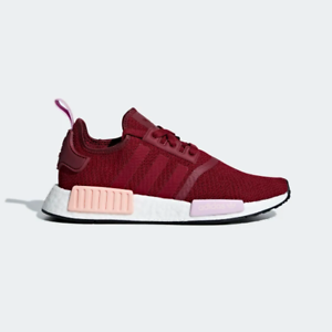 SALE ADIDAS NMD R1 WOMENS B37646 COLLEGIATE BURGUNDY RED PINK NEW RUNNER WMNS