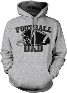 Helmet Dad Sweatshirt Football Hoodie My Ball Kid Parent Child Daddy Team Father BnpOnHa