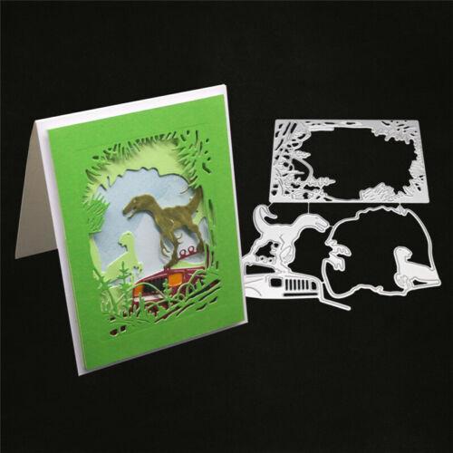 Stanzschablone Dinosaurier Hintergrund Weihnachten Neujahr Geburtstag Hochzeit