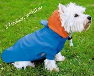 Cani-Giacca-da-Pioggia-con-Cappuccio-Blu-Protezione-Pioggia-Cappotto-S-M-L