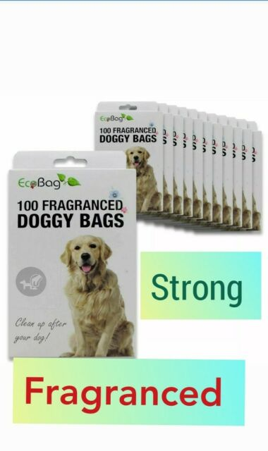 100 Bags X 3 Nappy Bags Frangranced X-tra Thick On A Roll With Tie Handles Very Strong By Tidyz