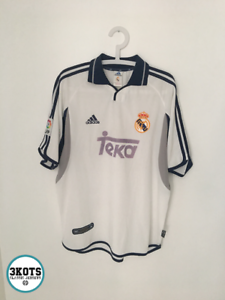 new product 97108 c72ef Details about REAL MADRID 2000/01 Adidas Home Football Shirt L Vintage  Soccer Jersey