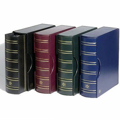 BLACK Lighthouse Classic Optima Leather Coin,Stamp /& Banknote Album Slipcase