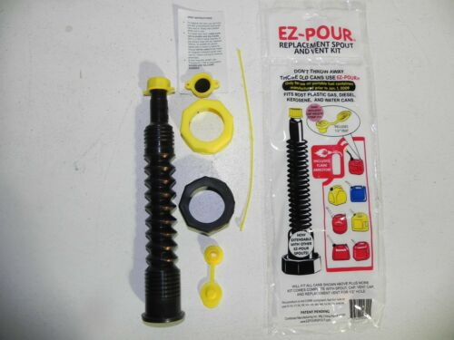 Nozzle Hose 1 Kit Blk Works with Gas Diesel Water Kerosene Cans Gas Can Spout
