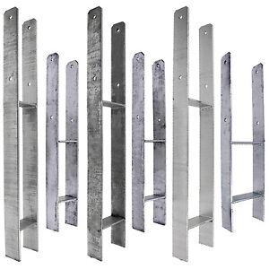 1 h pfostentr ger feuerverzinkt 600 mm 800 mm 6 mm gah alberts ebay. Black Bedroom Furniture Sets. Home Design Ideas