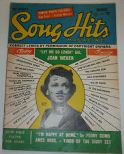 Song Hits Magazine Peggy King & Joan Weber March 1955 120614R