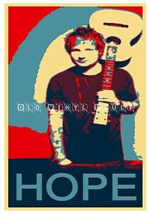 ed sheeran poster hope obama style poster new ebay