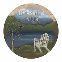 Thirstystone Drink Coaster Set, Life At The Lake, New, Free Shipping on sale