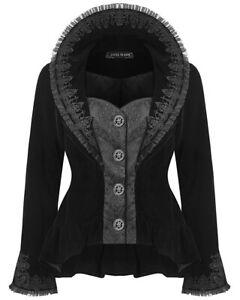 Dark-In-Love-Womens-Gothic-Jacket-Black-Velvet-Brocade-Lace-Steampunk-Victorian