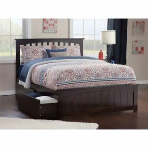 Details About Atlantic Furniture Mission Twin Xl Storage Platform Bed In Espresso