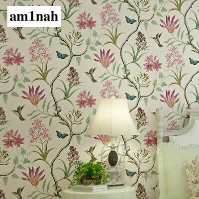 Chinoiserie Wallpaper Bedroom Wall Covering Modern Vintage Pink