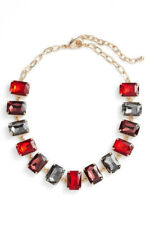 Nordstrom Crystal Collar Necklace nickel free, red, blue, green